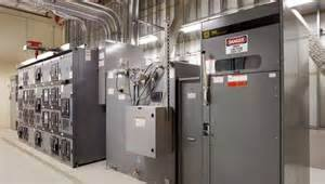 Electrical Room in a Building Basement