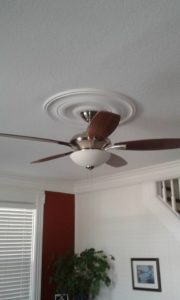 Installations of ceiling fans and other electric devices