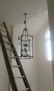 Installation of a new chandelier