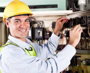 Electrician testing circuits